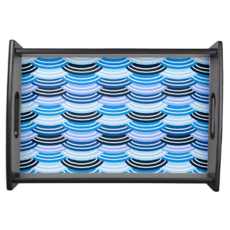 Sequin Pattern (blue) Serving Tray