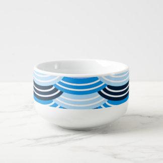 Sequin Pattern (blue) Soup Mug