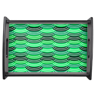 Sequin Pattern (green) Serving Tray