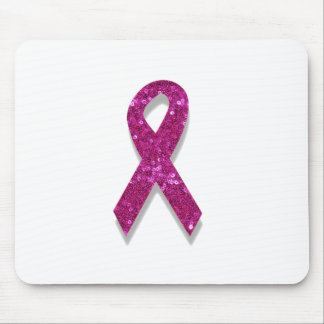 sequin pink breast cancer awareness mouse pad