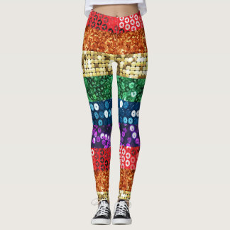 sequin pride flag leggings