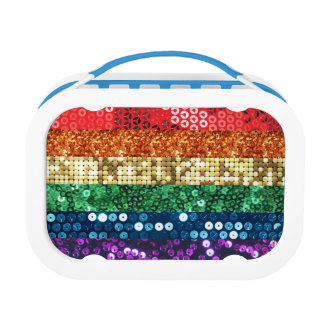 sequin pride flag lunchbox lunch box
