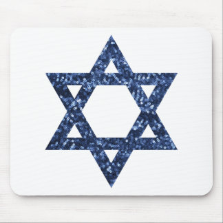 sequin star of david mouse pad