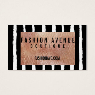 Sequin & Stripe Business Card- Rose Gold