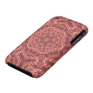 Sequins kaleidoscope effect pink (peach) iPhone 3 Case-Mate case