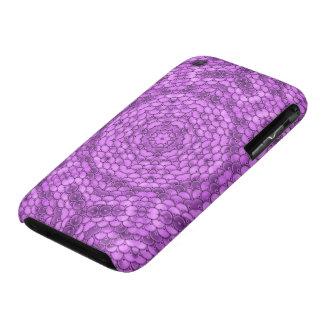 Sequins kaleidoscope effect purple iPhone 3 cases