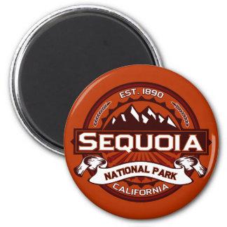 Sequoia Crimson 6 Cm Round Magnet