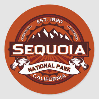 Sequoia Crimson Classic Round Sticker