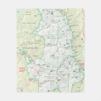 Sequoia/Kings Canyon map blanket
