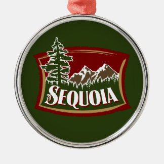 Sequoia Mountain Scene Christmas Ornament