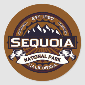 Sequoia National Park Logo Round Sticker
