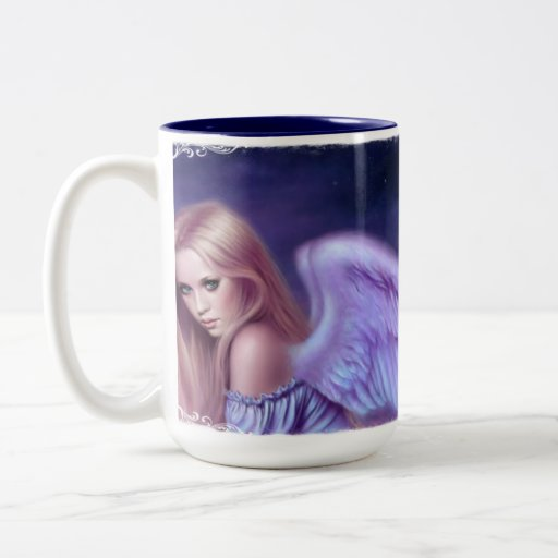 Seraphina Angel Art Two Tone Ceramic Mug