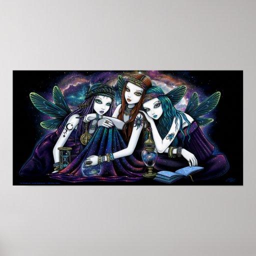 Seraphina Celestial Angels Nebula Fairy Poster