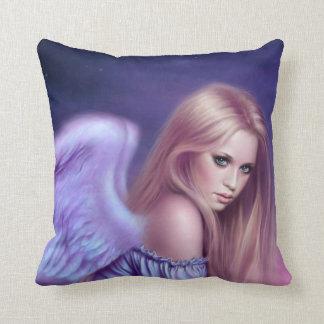Seraphina Guardian Angel Art Pillow Blue & Purple Cushion