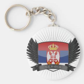 SERBIA BASIC ROUND BUTTON KEY RING