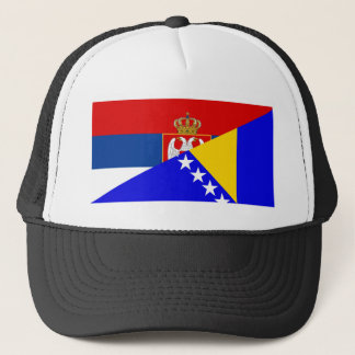 serbia bosnia Herzegovina flag country half symbol Trucker Hat