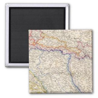 Serbia, Bosnia Square Magnet