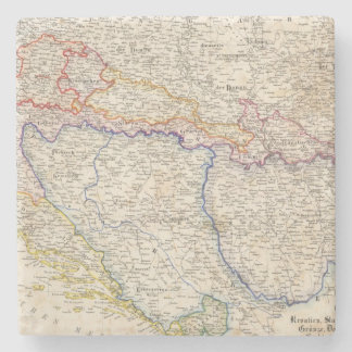 Serbia, Bosnia Stone Coaster