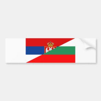 serbia bulgaria flag country half symbol bumper sticker