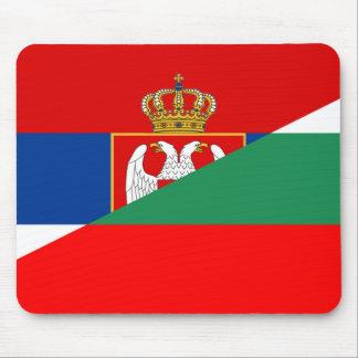 serbia bulgaria flag country half symbol mouse mat