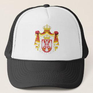 Serbia coat of arma trucker hat