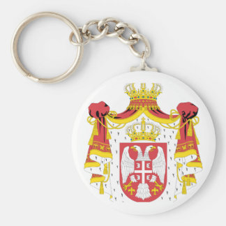 Serbia coat of arms key ring