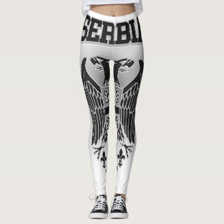 Serbia Coat of Arms Leggings