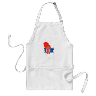 serbia country flag map shape symbol standard apron