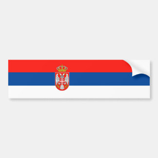 serbia country flag nation symbol name text bumper sticker