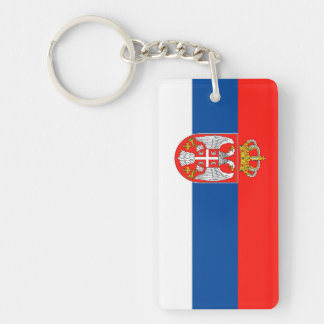 serbia country flag nation symbol name text key ring