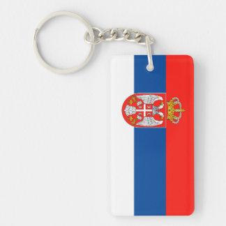 serbia country flag nation symbol name text Single-Sided rectangular acrylic key ring
