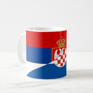 serbia croatia flag country half symbol coffee mug
