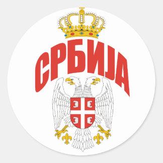 Serbia Cyrillic Classic Round Sticker