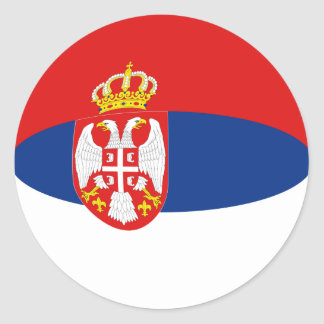 Serbia Fisheye Flag Sticker