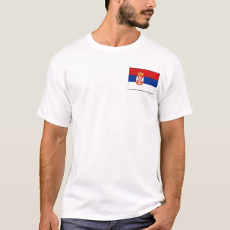Serbia Flag and Map T-Shirt