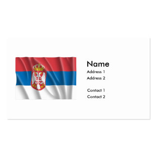 SERBIA FLAG PACK OF STANDARD BUSINESS CARDS