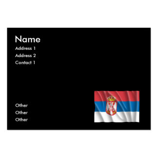 SERBIA FLAG BUSINESS CARD TEMPLATE