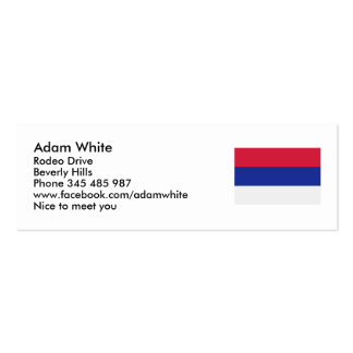 Serbia flag business cards