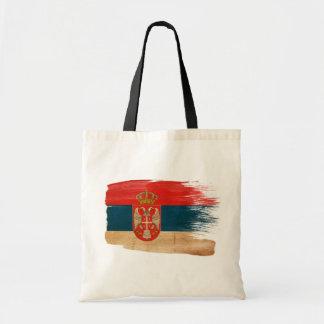 Serbia Flag Canvas Bags