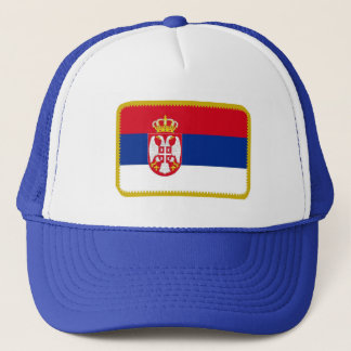Serbia flag embroidered effect hat