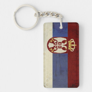 Serbia Flag Key Chain Souvenir