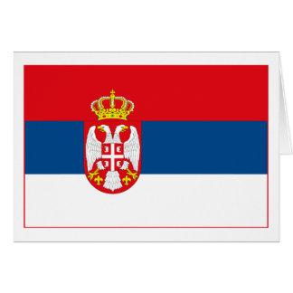 Serbia Flag (light) Greeting Card