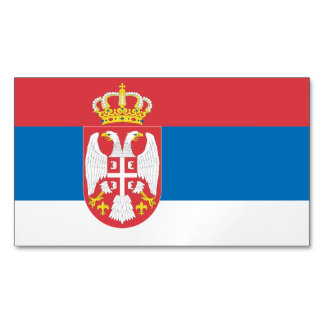 Serbia Flag Magnetic Business Cards