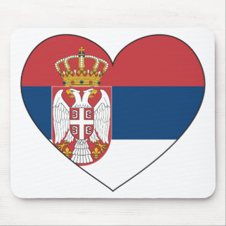 Serbia Flag Simple Mouse Mat