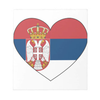 Serbia Flag Simple Notepad