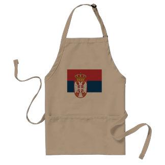 Serbia Flag Standard Apron