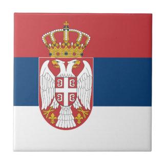 Serbia Flag Tile