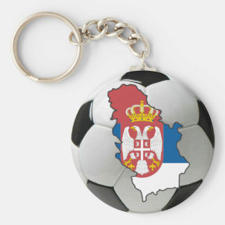Serbia football key ring