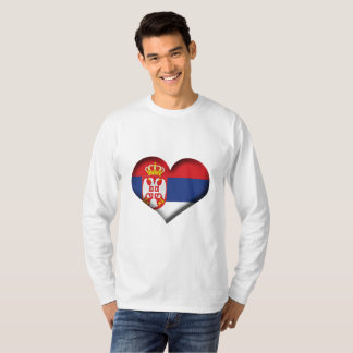 Serbia Heart Flag T-Shirt