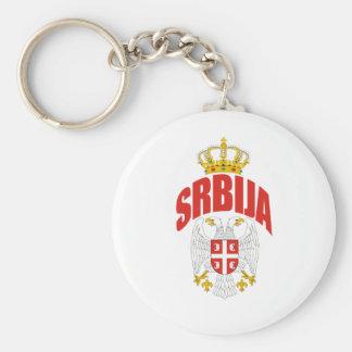 Serbia Latin Basic Round Button Key Ring